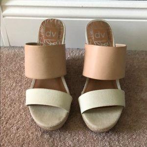 DV women's slip on wedges